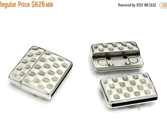 30% OFF 25MM Hammered Magnetic Clasp - Strong Magnet - Antique Silver - Qty. 1