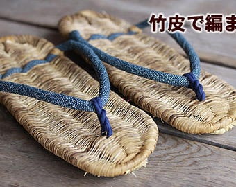 Japanese Traditional Sandal Zori Made of Bamboo