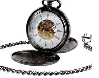 Personalized Vintage Style Hand Winding Mechanical Pocket Watch
