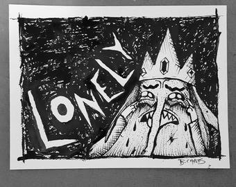 Adventure Time Ice King painting.