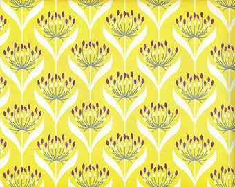 Yellow seed Heads - wrapping paper from England