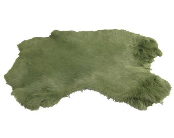 Dyed Rabbit Pelt - Gray