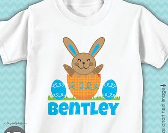 Boys Easter shirt or bodysuit - BOYS personalized Easter egg hunt shirt - Monogram Easter Outfit
