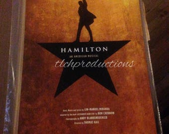 Official Hamilton Musical Poster Lin-Manuel Miranda Autographed Signed Window Card