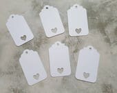 Wedding favour gift tag customisable choose your own colour small heart love anniversary