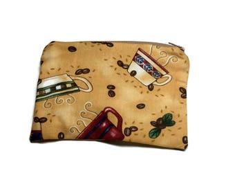 Reusable Snack Bag Zipper Gold Coffee Mugs Coffee Beans