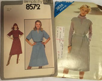 Simplicity 8572 and See snd Sew 3826 Women's Dress Patterns