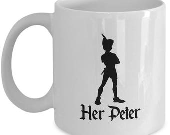 Disney Her Peter Pan Gift Mug His Wendy Tinkerbell Coffee Cup Couple Love Gifts