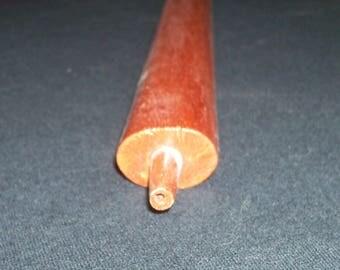 Single End 24 Inch Wood Pipe Stem, Pipestone, Calanite