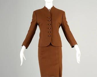 SALE 60s Suit 1960s Suit Cashmere Suit Cashmere Skirt Suit Brown Suit Cashmere Jacket Matching Set 60s Skirt Suit 60s Cashmere Skirt Suit Me