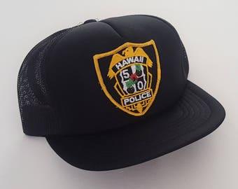 Vintage Hawaii 5-0 Police Snapback Hat VTG