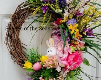 Easter Wreath, Spring Wreath, Grapevine Wreath, Easter, Easter Bunny, Easter Grapevine Wreath, Easter Door Wreath, Bunny Wreath, Easter