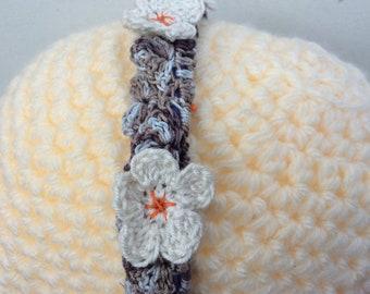 Owl feather effect woodland wedding crochet headband