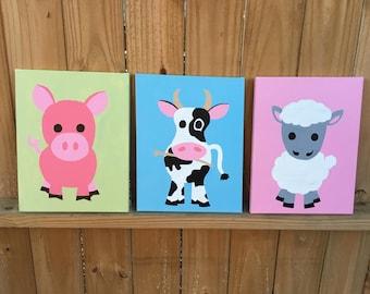 Nursery Animal Artwork