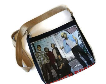 Sawyer Brown Bag • Upcycled Sawyer Brown Concert Tee Shirt • Recycled Tshirt Crossbody Bag • Sawyer Brown Gift • Handbag