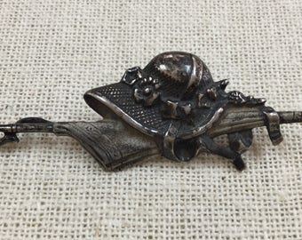 Vintage 925 Sterling  Silver  Umbrella  and Hat Brooch/PIn!!