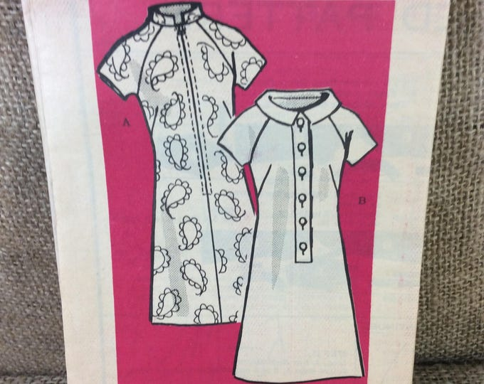 Vintage Marian Martin sewing pattern 9466 dress pattern from the 1960's, 2.50 US shipping, mail order vintage pattern, super button up dress