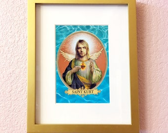 Saint Kurt Cobain Print // 5x7 Original Collage Art