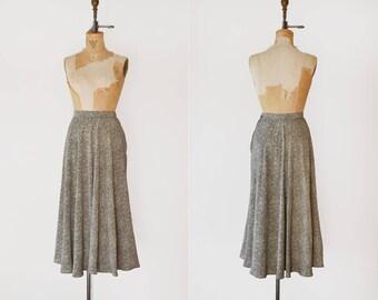 Pin Point Skirt / 1990s silk Ralph Lauren purple label skirt / vintage printed dot midi