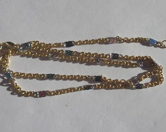 metal chain silver color matte and gilded with clasp (AR1 - 28-