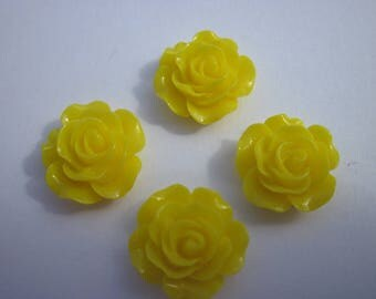 4 resin flowers to paste 11x14mm (BD10)