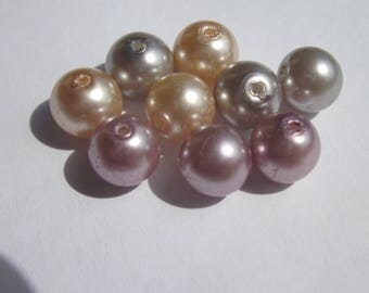 glass Pearl 8 mm - PV18 2 - 9 round beads