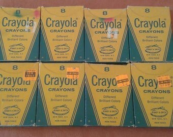 Vintage Crayola Crayons by Binney & Smith Lot of 8 Packs