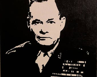 Lieutenant General Chesty Puller hand painted
