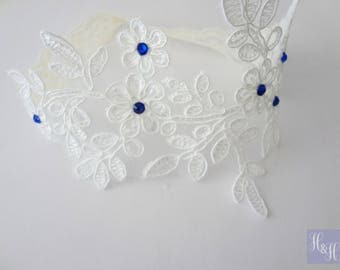 Elegant White/Ivory garter - something blue