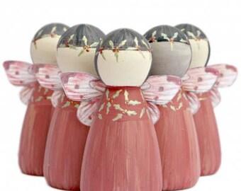 Holly Fairy Peg Doll