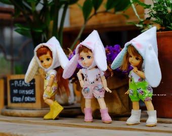 Lati Yellow outfit Bib shorts with rabbit hat