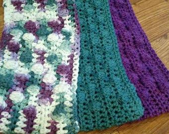 Crochet Swiffer covers in purple and blue tones, swiffer duster, swiffer mop, reusable Swiffer pad,  Swiffer sweeper