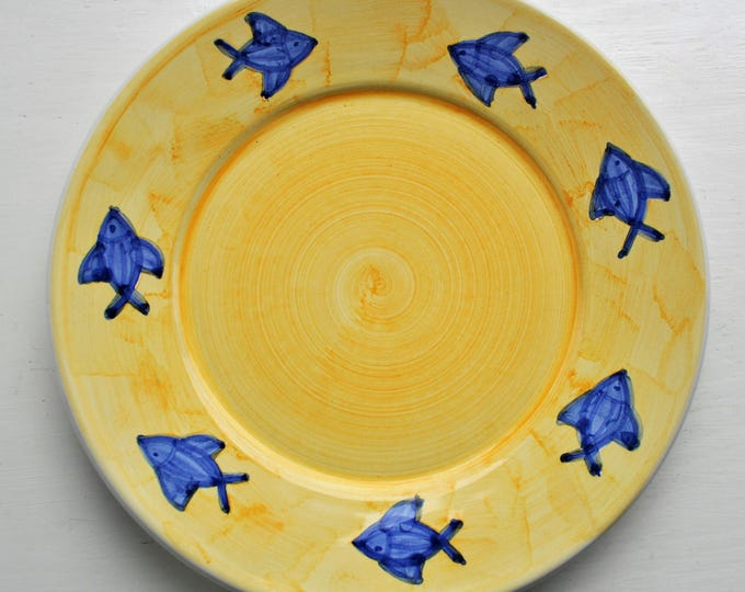 Villeroy and Boch Hand Painted Fish Plate Italy Rare
