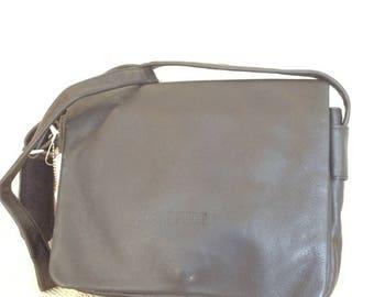 10% OFF SALE Genuine vintage Bree black leather front flap shoulder bag