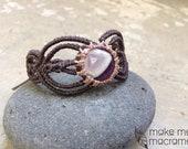 Custom gold sheen obsidian bracelet