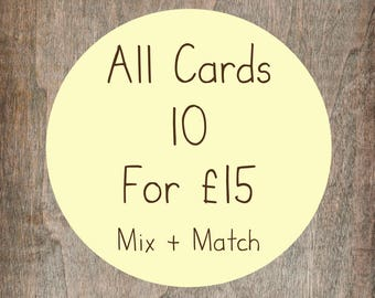 Greetings Card Offer! - Any 10 Simons Nest Greetings Cards for 15 Pounds - Mix And Match