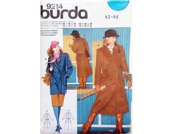 "UNCUT Burda 9214 Winter Wool Double Breasted Jacket or Coat Sewing Pattern 3 Sizes Bust 38"" 40"" 42"" UK 16 18 20"
