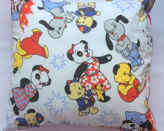Adorable Sooty Vintage Fabric Cushion -  Handmade by Alien Couture
