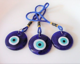 SALE! Evil Eye Protection Gorgeous Blown Glass for decoration, car, home, gift, Gorgeous !