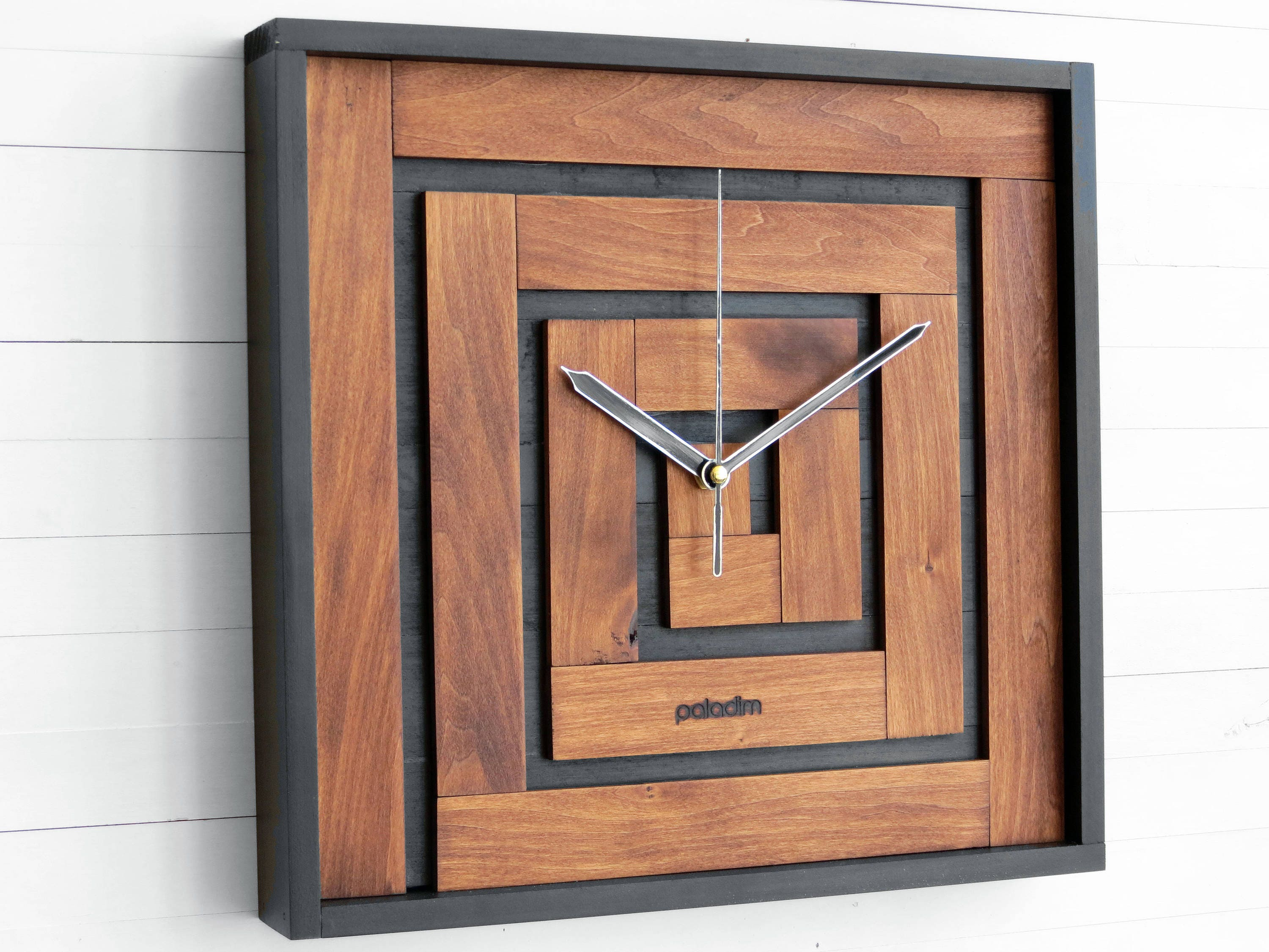 Wall clock thanksgiving gift square clock maze decor zoom amipublicfo Gallery