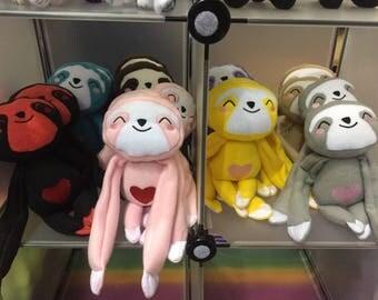 Heart Sloth Plush Toy