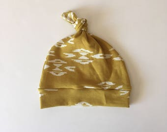 Mustard Wanderer Knotted Hat