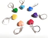 Rainbow Stitch Markers. Rainbow Hearts. Universal. Knitting and crochet. Ready to ship.