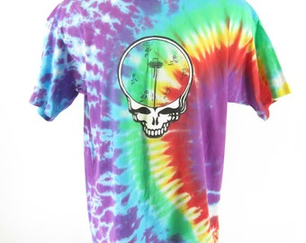 Vintage 80s Tie Dye Grateful Dead Band T-Shirt Mens XXL Deadheads Deadstock [H79E_0-12]