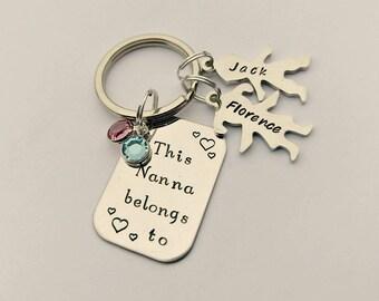 Personalised Nanna gift - Nanna keyring - This Nanna belongs to - nanna present - Nanna keychain - Nan Nana Nanny Grandma gift