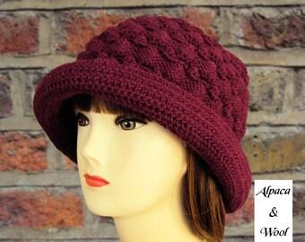 Women's Hat Winter Hat Ruby Red Knit Hat Women Crochet Hat Women's Gift for Her Gift for Wife Gift for Mum