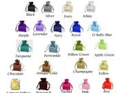 """4""""x 6"""" SATIN SELECT COLOR custom list - drawstring bags gift favor party, bridal red blue green purple white black gold navy periwinkle pink"""
