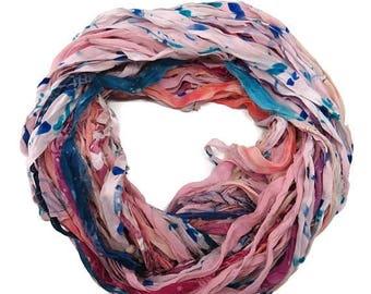 SALE New! Premium Sari Silk Chiffon Printed Ribbon ,  100g