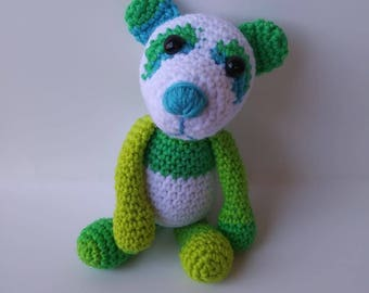 Ready to Ship - Peter the Panda crocheted stuffed animal