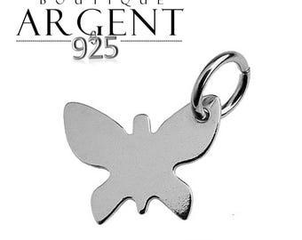 Sterling Silver 925 8.7 X 11 mm Butterfly shape